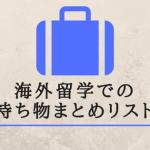 【経験者の知恵】印刷OK!海外留学での持ち物、荷物のまとめリスト