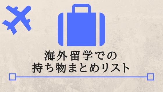 海外留学 持ち物 荷物 スーツケース 預ける 長期 便利 必要 まとめ リスト 留学準備
