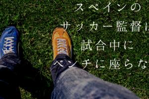サッカー スペイン 日本 育成年代 監督 コーチ ベンチ 座る 指示 小学生 中学生 指導者