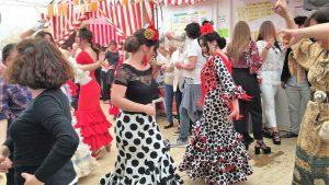 セビリア セビージャ 春祭り スペイン 3大祭り 楽しい 踊る 食事 写真