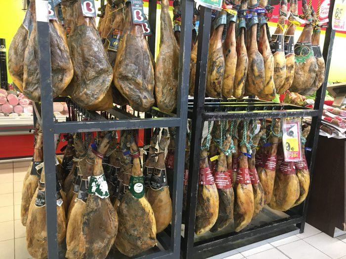 スペイン スーパー 生ハム 面白い 種類 食品 物 違い 種類
