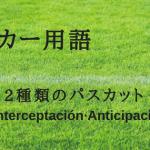 日本語に無いサッカー2種類のパスカット方法!スペインサッカー用語