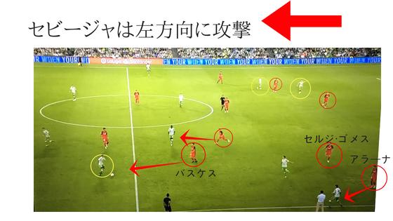 セビージャ ベティス ダービー 世界一 スタメン リーガ・エスパニョーラ スペイン サッカー 試合 試合分析 オフェンス 攻撃 ディフェンス 守備 解説 詳しく